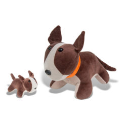 Cachorro Pelúcia Bull Terrier com Filhote - Bichos de Pano